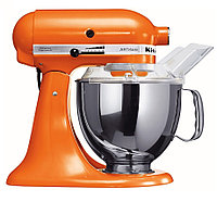 KitchenAid 5KSM150PSETG тестомес - миксер планетарный, дежа 4.83л., 3 насадки, мандариновый