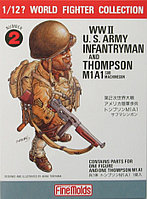 Солдат W.W.II U.S. Infantry Man & Thompson M1A1