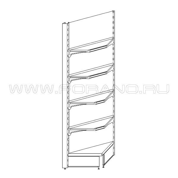 Стеллаж металлический угловой внутренний 2200/400/400