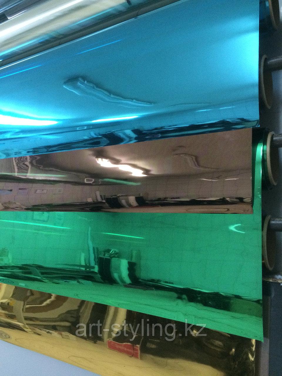 Синяя зеркальная пленка (обратный клеевой слой)