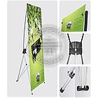 160х60 см. Х-баннер, мобильный Х-стенд, растяжка, паучек, паук, фото 2