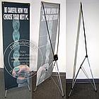 160х60 см. Х-баннер, мобильный Х-стенд, растяжка, паучек, паук, фото 8