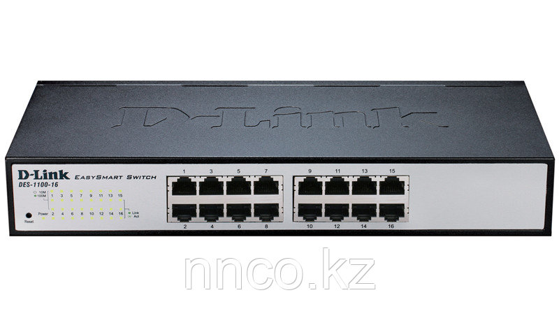 D-Link DES-1100-16/A2A Настраиваемый комм EasySmart с 16 портами 10/100