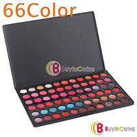 Профессиональная палетка теней 66 цветов с блеском для губ, фото 1