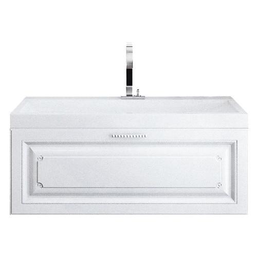 """""""Империя"""" Тумба с умывальником Infinity 1000  подвесная, цвет белый, две части Emp.01.10/W, ТМ «AQWELLA»"""