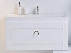 """""""Инфинити"""" Тумба с умывальником Infinity 600 подвесная с ящиком, цвет белый, две части Inf.01.06/001, ТМ «AQWE"""