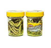 "Приманка ""Berkley PowerBait Sparkle Honey Worm, Yellow Scales"""