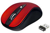 Мышь Delux DLM-483LGR, 3D, Лазерная, 800-1200dpi, Беcпроводная 2.4ГГц, Нано-ресивер, Эффективная дистанция 10