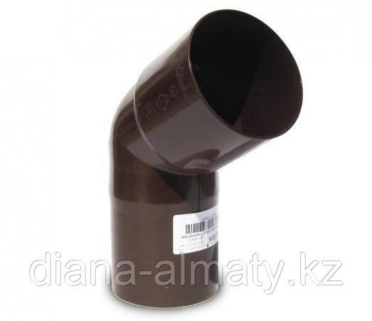 Колено (полуотвод) 60град d=90 мм, RUPLAST (Коричневый)