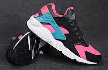 Кроссовки Nike Air Huarache черный и розовый, фото 3