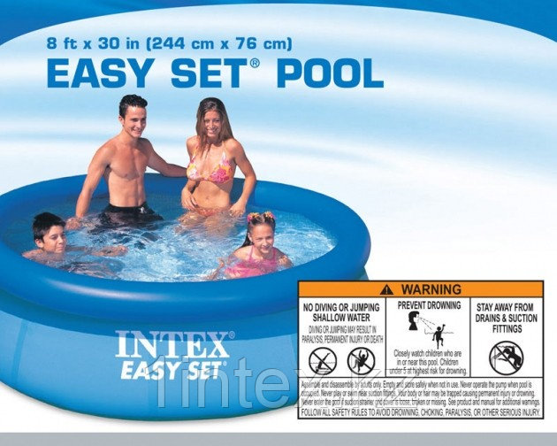 intex easy set pool 244 x 76 intex. Black Bedroom Furniture Sets. Home Design Ideas
