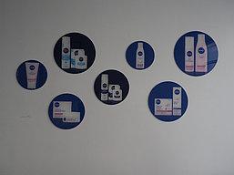 Оформление офиса Nivea. Печать на стекле. 3