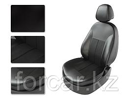 Чехлы модельные TOYOTA CAMRY V50 с 2012г серый/замша серый/серый
