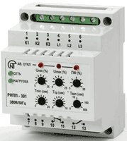 Трехфазное реле напряжения и контроля фаз РНПП-301, фото 1