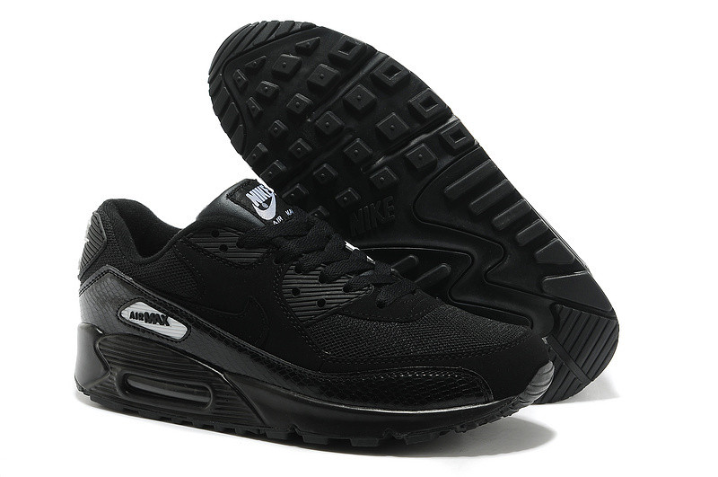 272a556e Кроссовки Nike Air Max 90 Essential All Black Snakeskin, 43 размер -