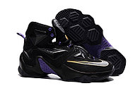 Кроссовки Nike LeBron XIII (13) Gold Purple Black (36-47), фото 1