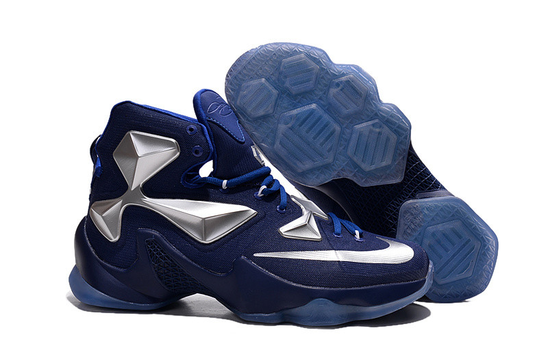 Кроссовки Nike LeBron XIII (13) Navy Blue Silver (36-47)