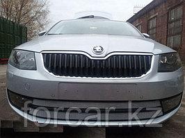 Защита радиатора Skoda Oktavia А7 2013-Ambition-Elegance  2013- chrome