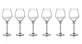 Сет Магическая гармония 6 бокалов для белого вина с металлическими ножками