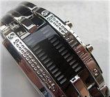 Светодиодные часы Cyber Clock с синей подсветкой, фото 3