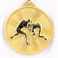 Медаль рельефная БОРЬБА (золото)