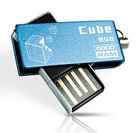 Флеш-память 8GB USB GOODDRAM Cube blue Retail