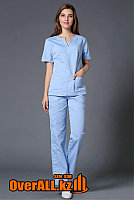 Голубой женский медицинский костюм, фото 1