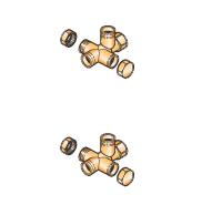 ЕА45 комплект соединительных крестовин