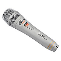 Microphone Ritmix RDM-131, 600 Ohm, 80-15000Hz, 68dB, XLR -> 6.3mm, 3m cable, silver