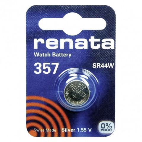 Батарейка Renata  357 SR44W 1.55V, 1 шт, блистер