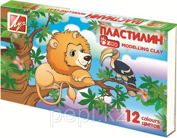 "Пластилин 12цв. Луч ""Zoo"" мини"