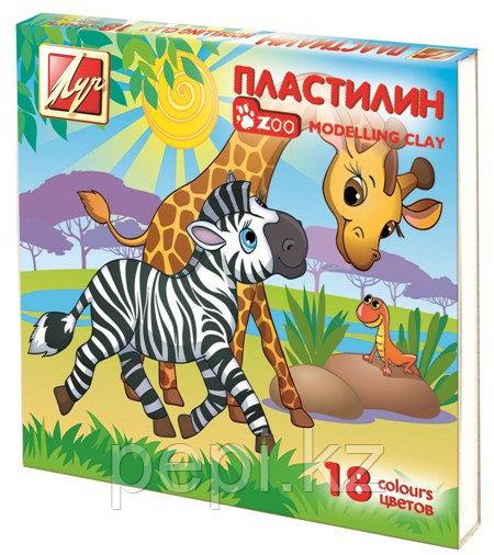 "Пластилин 18цв. Луч ""Zoo"" мини"