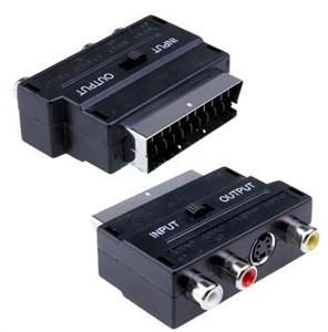 Переходник SCART-3RCA+S-Video с переключателем