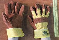 Перчатки спилковые комбинированные, фото 1