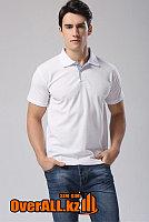 Белая мужская футболка поло, фото 1