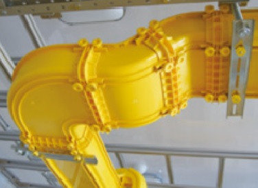 Внутренний  отвод 45° к кабельному коробу  Optiway 60x60, фото 2