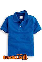 Детская синяя футболка поло