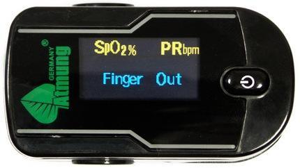 Пульсоксиметр Atmung MC300C21C оснащен ярким ЖК-экраном