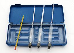 Спиртометр 0-40, 40-70, 70-100 (Ареометр)+термометр. Набор спиртометр.