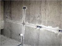 Штробление по бетону стен, потолков