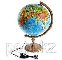 Глобус физический d320 мм, с подсветкой
