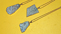 "Кулон на цепочке ""Blue Aura Druzy Quartz Necklace"""