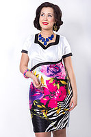Эффектное стильное платье прилегающего силуэта из полотна сатин-стрейч. Размер - 54.