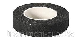 Изолента, ЗУБР 1231-25, на хлопчатобумажной основе, 18мм х 33м, черная
