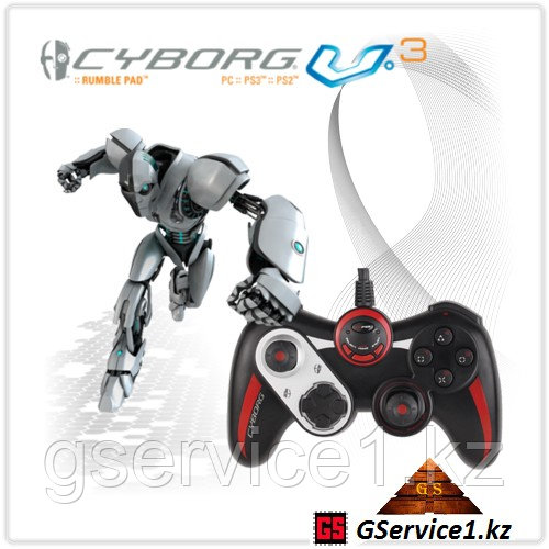 Геймпад Saitek Cyborg V.3 Rumble Pad Black-Red - ИП «GService» в Алматы