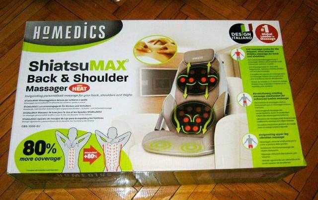 Накидка массажная Homedics BMSC-5000H-EU поставляется покупателям в стильной современной упаковке