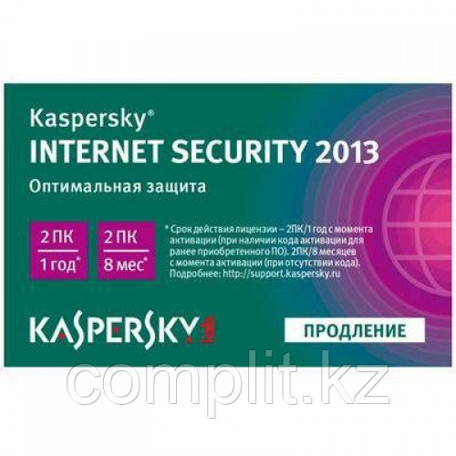 Kaspersky Internet Security 2016 2Dt Renewal (карточка)