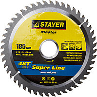 "Диск пильный STAYER MASTER ""SUPER-Line"" по дереву, 250х32мм, 60Т"