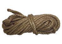 Веревка джутовая, L 10 м, крученая, D 8 мм Россия