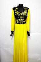 Женское платье с казахскими орнаментами, фото 1